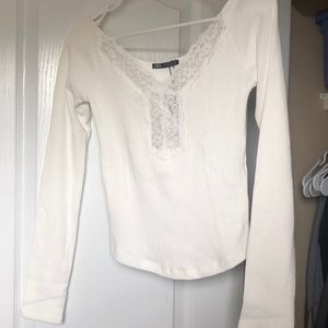 NWT Zara Lace Top